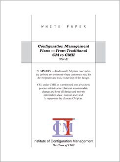 Configuration Management Plans - From Traditional CM to CMII